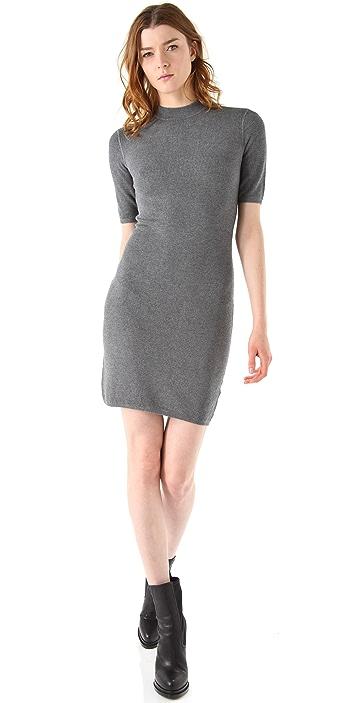 T by Alexander Wang Short Sleeve Thermal Dress