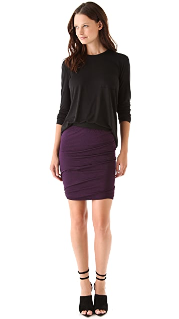 T by Alexander Wang Draped Jersey Skirt