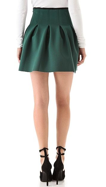 T by Alexander Wang Neoprene Inverted Pleat Skirt