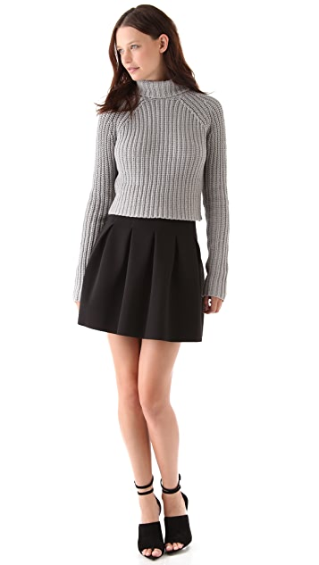 T by Alexander Wang Chunky Cropped Turtleneck