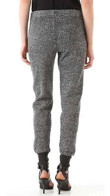 T by Alexander Wang Tweed Print Sweatpants