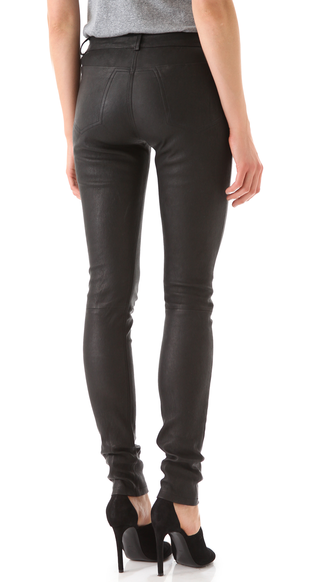 c43af16a60f8 alexanderwang.t Stretch Leather Pants