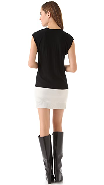 T by Alexander Wang Long Tunic Dress