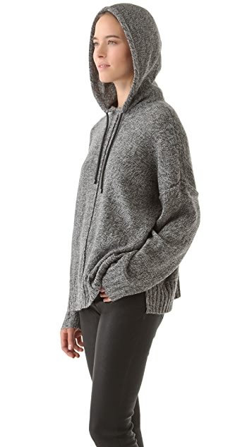 T by Alexander Wang Boxy Knit Hoodie