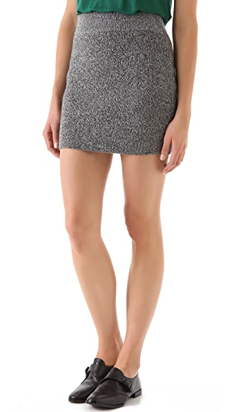 T by Alexander Wang Marled Knit Mini Skirt