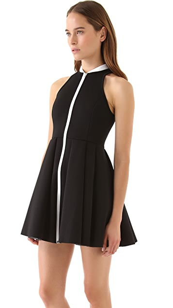 T by Alexander Wang Sleeveless Neoprene Dress with Collar
