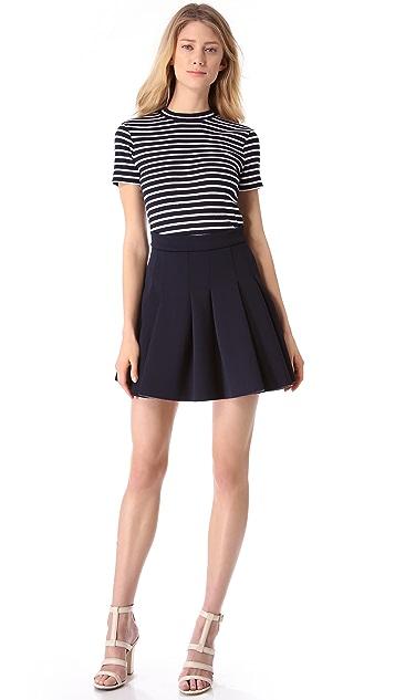 T by Alexander Wang Neoprene Box Pleat Skirt