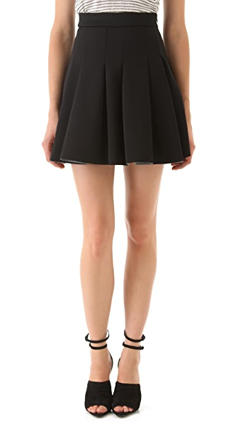 T by Alexander Wang Neoprene Box Pleat Skirt