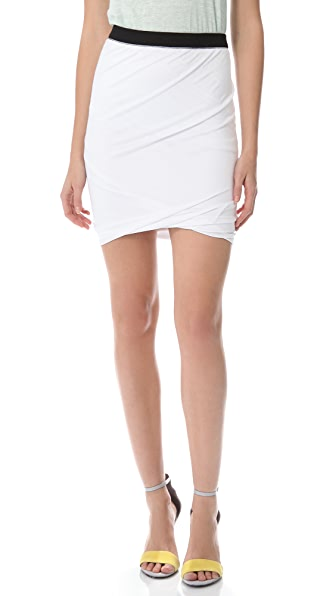 T by Alexander Wang Pique Twist Skirt