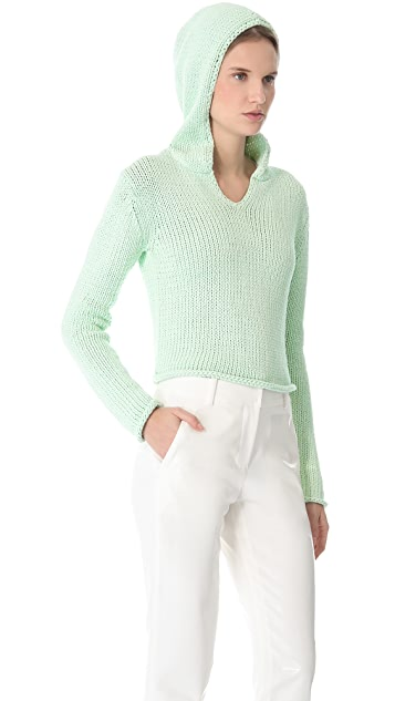 T by Alexander Wang Chunky Hooded Sweater