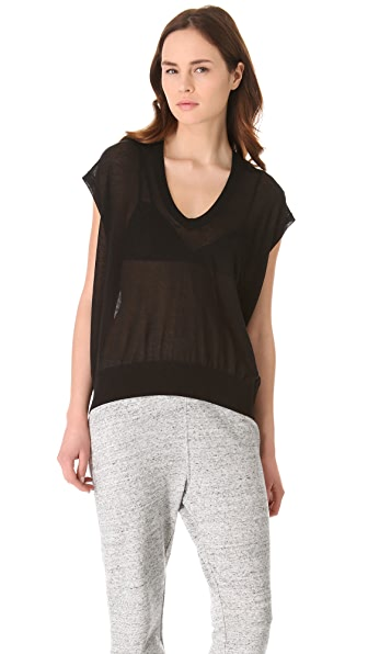 T by Alexander Wang Low Neck Loose Knit Tunic