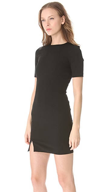 T by Alexander Wang Tech Suiting Sheath Dress