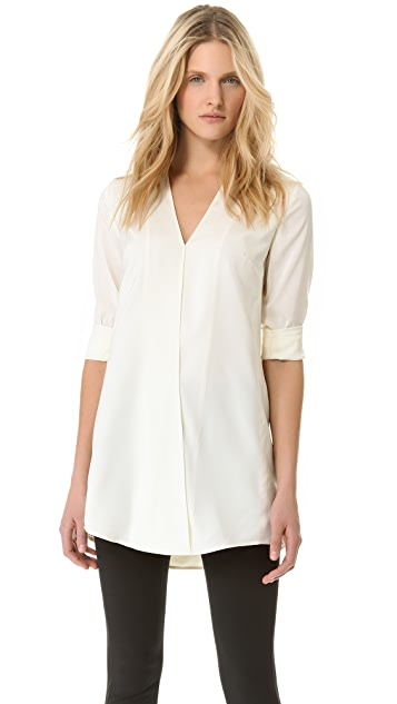 T by Alexander Wang Habotai Cross Front Tunic