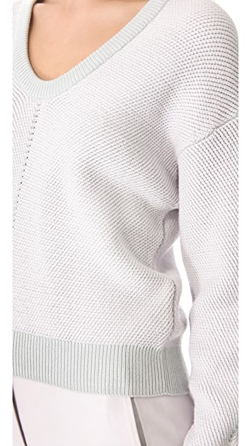 T by Alexander Wang Herringbone Knit Sweater