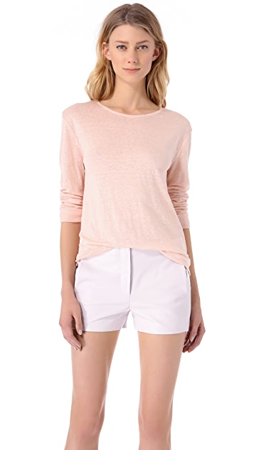 T by Alexander Wang Long Sleeve Linen Tee