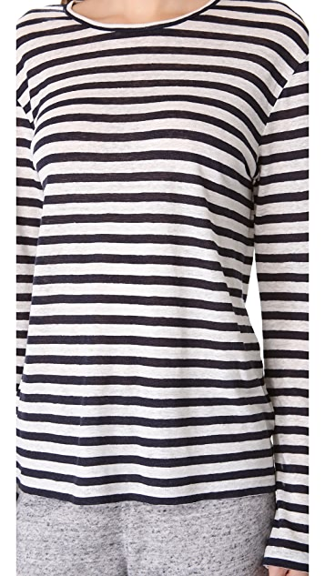 T by Alexander Wang Striped Long Sleeve Tee