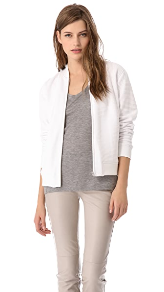 T by Alexander Wang Ottoman Double Knit Bomber Jacket