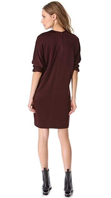 T by Alexander Wang Knit Long Sleeve Dress