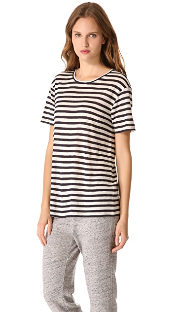 T by Alexander Wang Striped Short Sleeve Tee