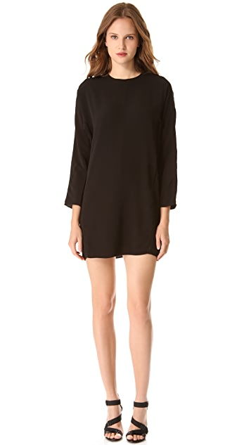T by Alexander Wang Long Sleeve Lattice Dress