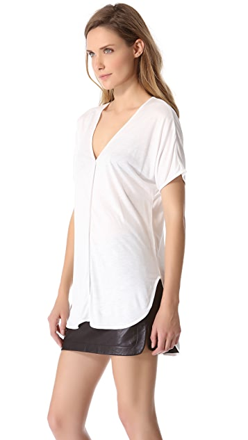 T by Alexander Wang V Neck Tee