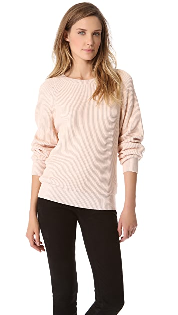 T by Alexander Wang Techy Slick Rib Sweater