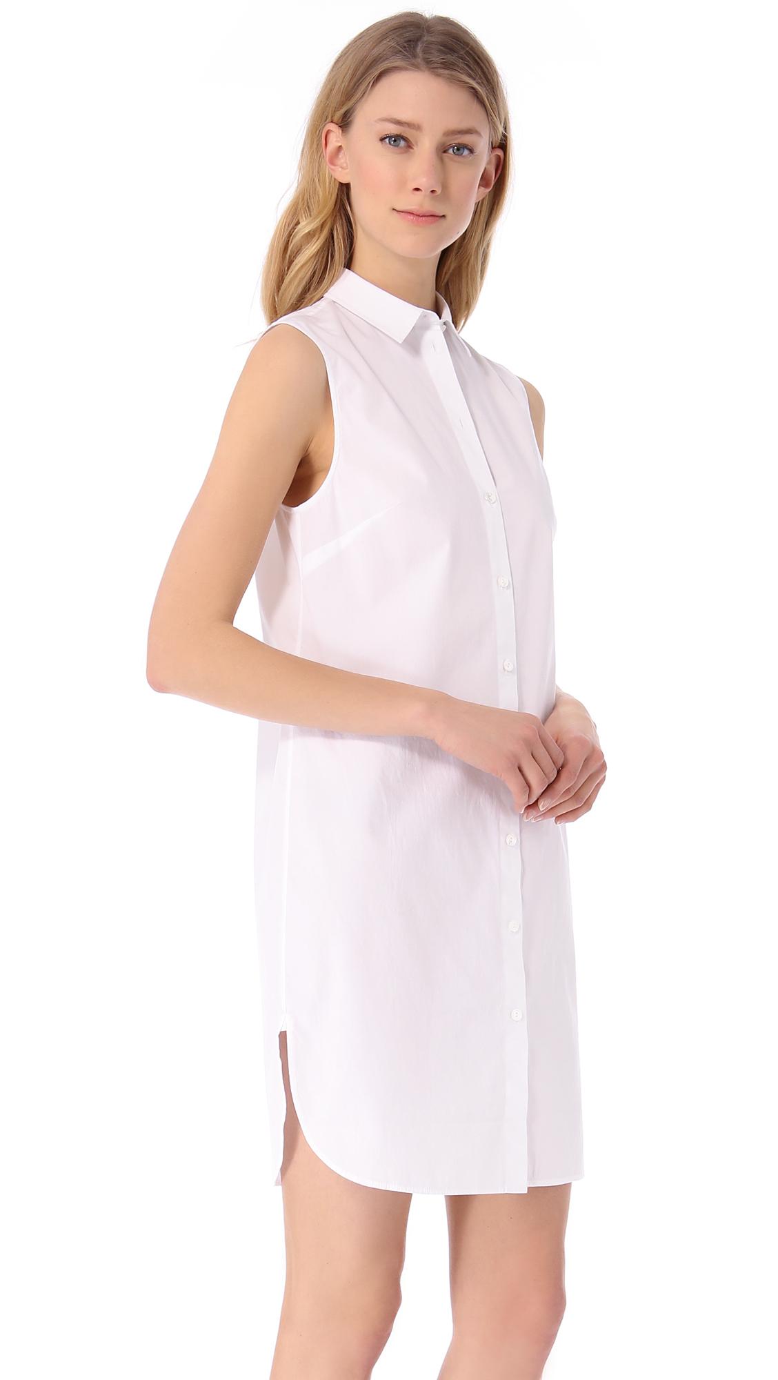 Alexanderwangt Sleeveless Shirtdress Shopbop