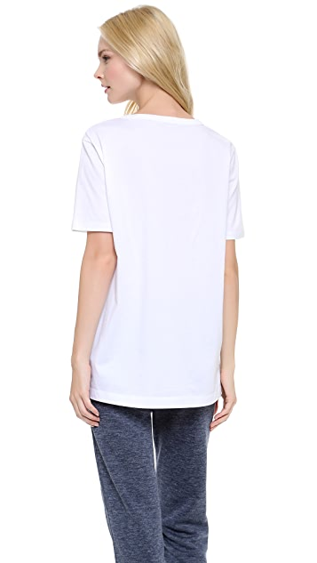 T by Alexander Wang Leather Pocket Tee
