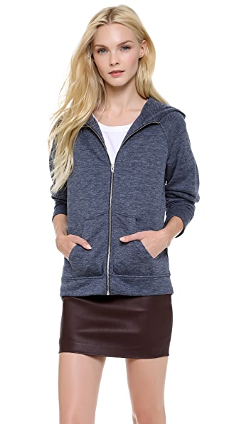 T by Alexander Wang Zip Up Hooded Jacket