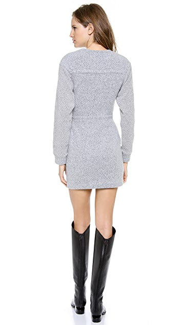 T by Alexander Wang Brushed Sweatshirt Dress