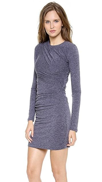 T by Alexander Wang Mohair Jersey Long Sleeve Dress