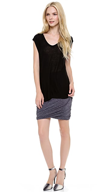 T by Alexander Wang Mohair Jersey Double Twist Skirt