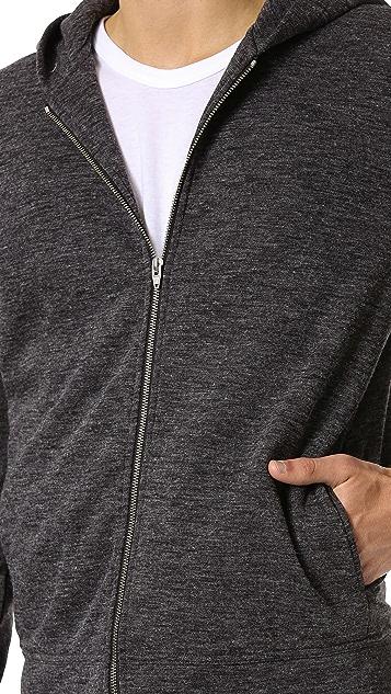 T by Alexander Wang Fleece Zip Up Hoodie