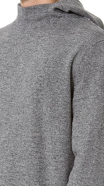 T by Alexander Wang Top Dyed Fleece Hoodie