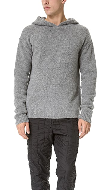 T by Alexander Wang Hooded Sweater with Jersey Lining