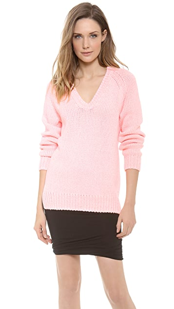 T by Alexander Wang Chainette Tape Yarn Pullover