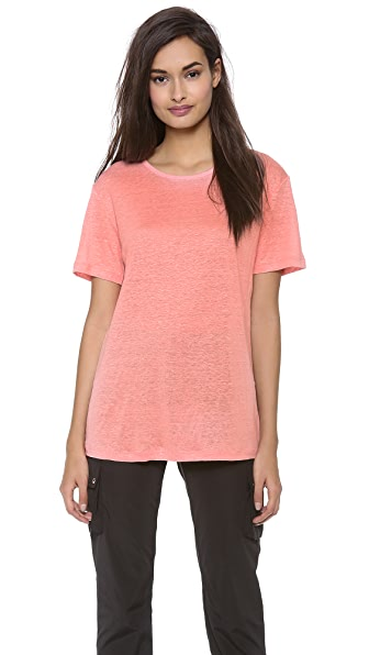 T by Alexander Wang Linen Silk Short Sleeve Tee