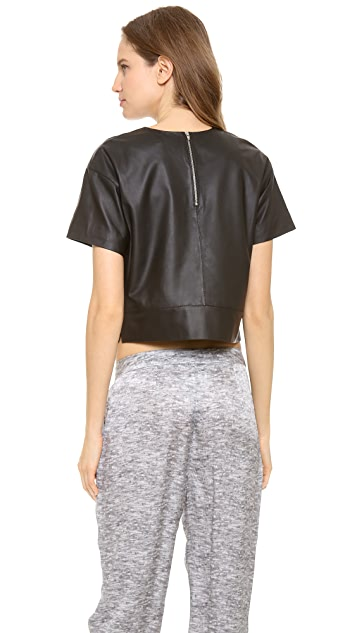 T by Alexander Wang Lightweight Leather Tee