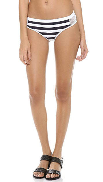 T by Alexander Wang Stripe Mesh Combo Bikini Bottoms