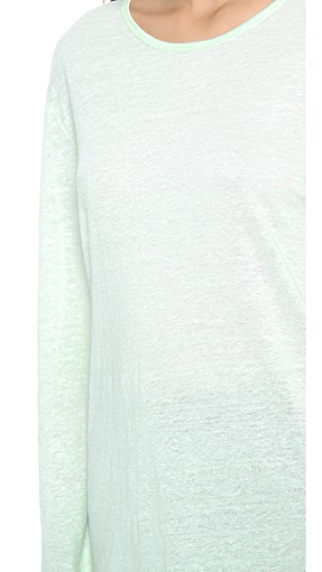 T by Alexander Wang Linen Silk Long Sleeve Tee