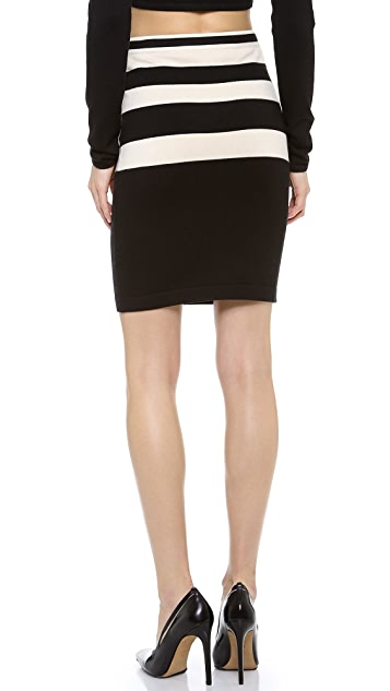 T by Alexander Wang Striped Knit Pencil Skirt