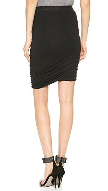 T by Alexander Wang Micromodal Twist Skirt