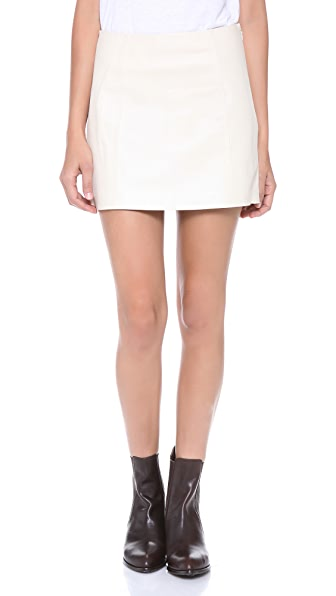T by Alexander Wang Paperback Leather Skirt