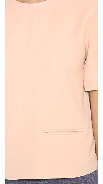 T by Alexander Wang Drape Suiting V Back Top