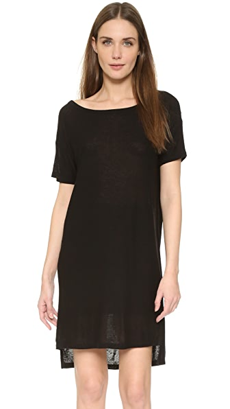 T by Alexander Wang Classic Slub Boat Neck Dress