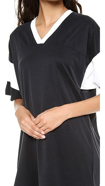 T by Alexander Wang Oversized Football Tee Dress