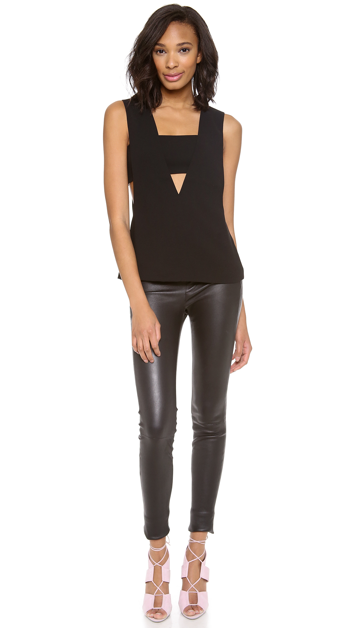 alexanderwang.t Low V Tank with Bandeau  553189786