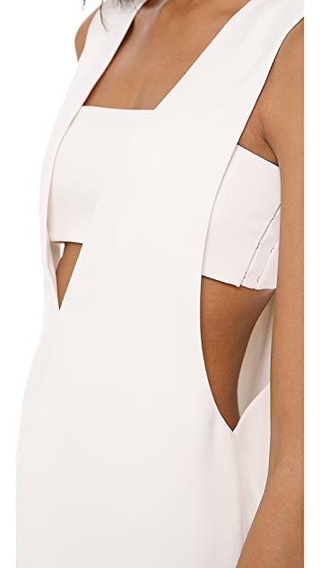 T by Alexander Wang Low V Tank with Bandeau