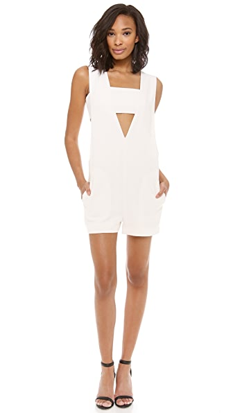 T by Alexander Wang Low V Romper with Bandeau