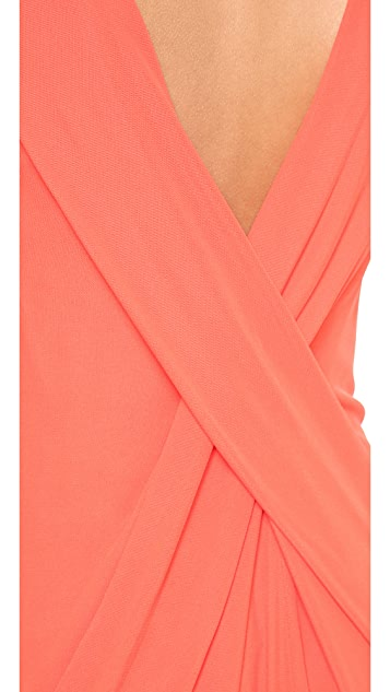 T by Alexander Wang Cross Drape Back Dress